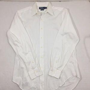 Men's Polo Ralph Lauren White Dress Shirt 16